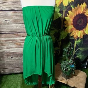 WOMENS SUMMER STRAPLESS HIGH AND LOW DRESS